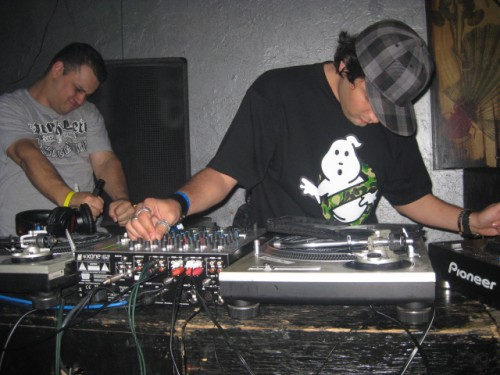 DJing at club arena, notice Seabass's face during the double drop!