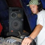 DJing at a dusty dessert rave in the middle of nowhere 2006