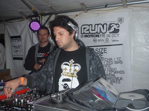 DJing at the tunnel room in Bristol 2009