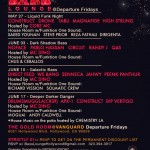 Bass Lounge Schedule for May & June 2011