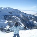 Snowboarding in Vail Colorado 2008