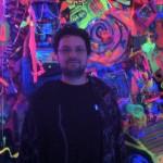 "Inside Mocha's ""Art in the Street"" exhibit room featuring Rammellzee"