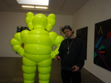 Life size Kaws x Chum @ Kaws art show 2009