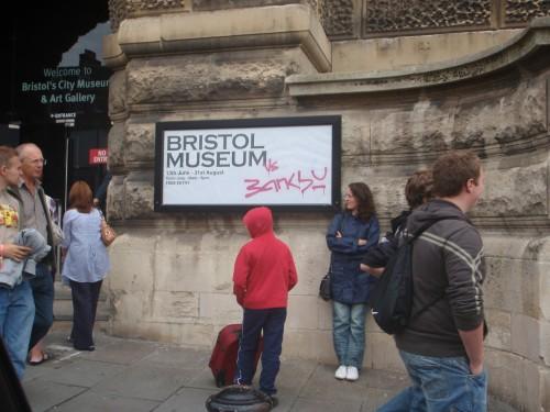 Bristol Museum Banksy invasion 2009