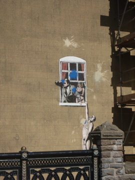 Random wall that Banksy had tagged in Bristol on my visit in 2009