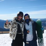 Me & Arie at the top of Mammoth Mountain