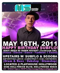 DJ Subflo Birthday Bash 2011