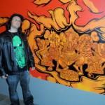 Me at the Mark Dean Veca exhibit 2008