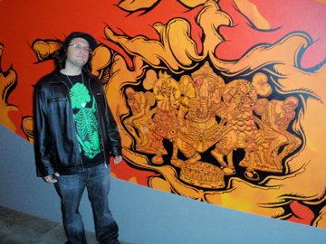 Me at the Mark Dean Veca exhibit 2008